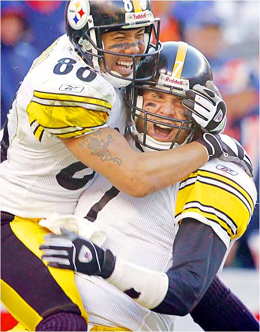 The Steelers don't throw that much, so when they do, it's important that Roethlisberger and Ward are on the same page. They've worked together to get to know each other's tendencies. Big Ben has a lot of faith in Ward when a big play is needed.