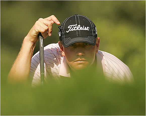 After missing the cut in the first three majors of the year, Lucas Glover got off to a good start at Medinah, sharing the lead with Chris Riley.