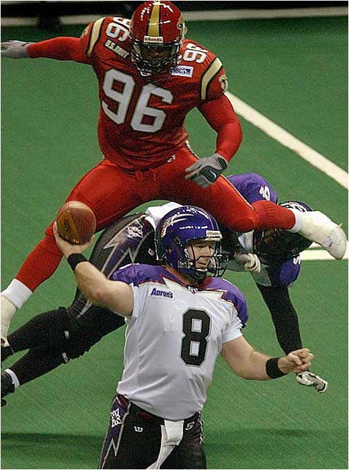 The now-defunct Cobras played in the Arena Football League from 2000 to '04.