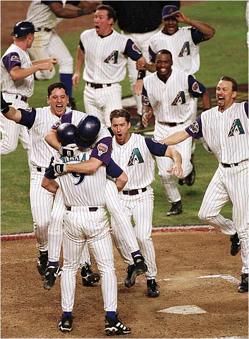 The D'backs proved slippery in beating the Yankees in 2001, Arizona's fourth season in existence.