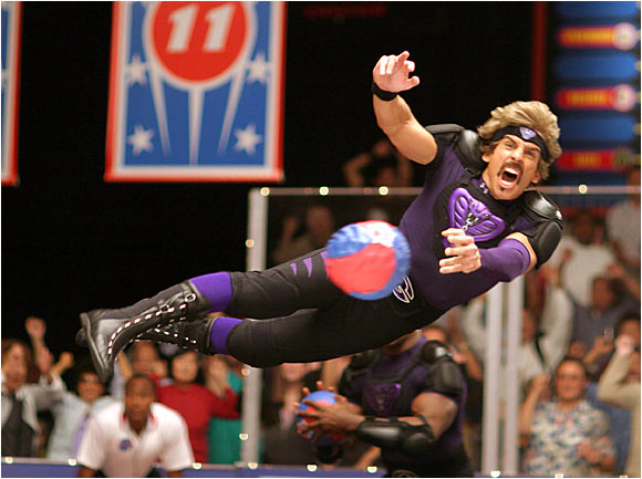 In Dodgeball: A True Underdog Story, Ben Stiller played White Goodman, the owner of Globo Gym and would-be dodgeball tournament champion if Vince Vaughn's Average Joe's had not gotten in the way.