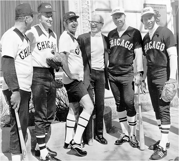 "A legendary man in MLB history, Drabowski (second from left) was known not only for pitching for eight major league teams, but also the hilarious pranks he pulled on teammates. Nicknamed ""The Snake Man"" for hiding the reptiles in his teammates lockers, Moe would've been the perfect villain behind a ""Snakes on a Plane""-type fiasco."