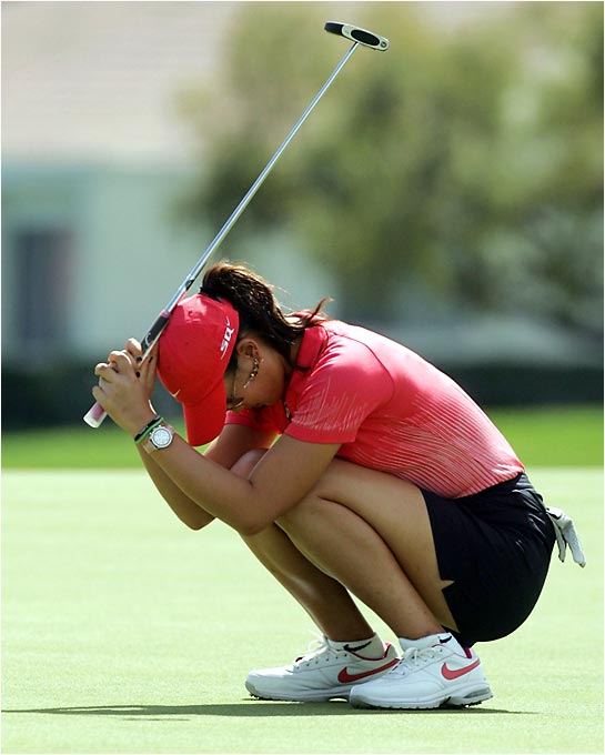Wie has come close several times to winning an LPGA event, and is regularly near the leaderboard at women's majors. But she has yet to win a big event since bursting onto the scene, and her putting failures down the stretch are a glaring weakness. Sure, she's still young ... but patience may be starting to wear thin.