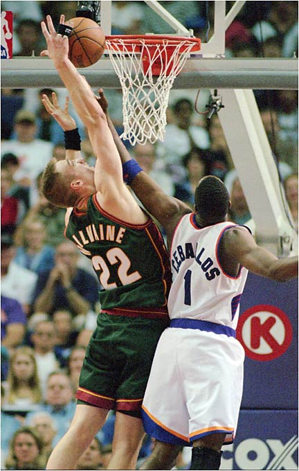 Back in '96, it didn't seem like THAT bad a contract. The Sonics were coming off a 64-win season and a Finals appearance in which incumbent pivotman Ervin Johnson was suspended for the last two games and retread center Frank Brickowski was pushed around by Chicago's Dennis Rodman. The 23-year-old McIlvaine had averaged 2.1 blocks as a backup in Washington, and Seattle thought that if it surrounded him with strong rebounders and scorers, such as Shawn Kemp and Detlef Schrempf, what could go wrong? Everything. McIlvaine failed to develop, Kemp pouted his way out of Seattle and McIlvaine's contract became the stink bomb of his era.