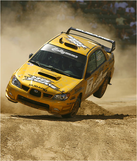 """Only 100 yards stood between him and the gold medal in the inaugural rally car """"Super Special"""" race when his car did a 360 flip. Undeterred, McRae regained control and finished in time to win silver."""
