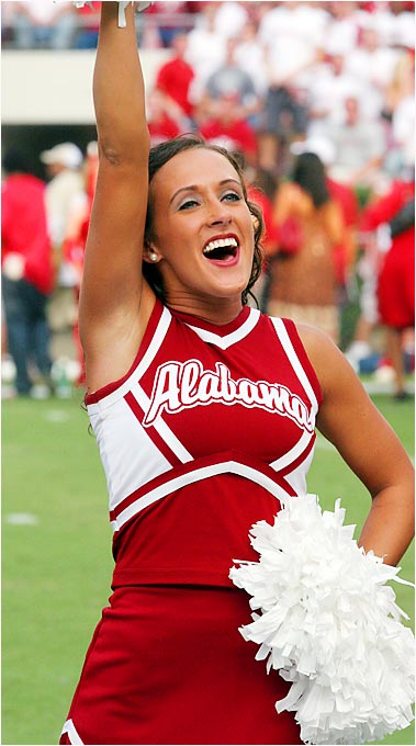Jody Reeves, a senior at Alabama, is a Secondary Math Education major. She enjoys laying on the beach, country music and the Atlanta Braves. But her first love is cheerleading, especially for the undefeated Crimson Tide.
