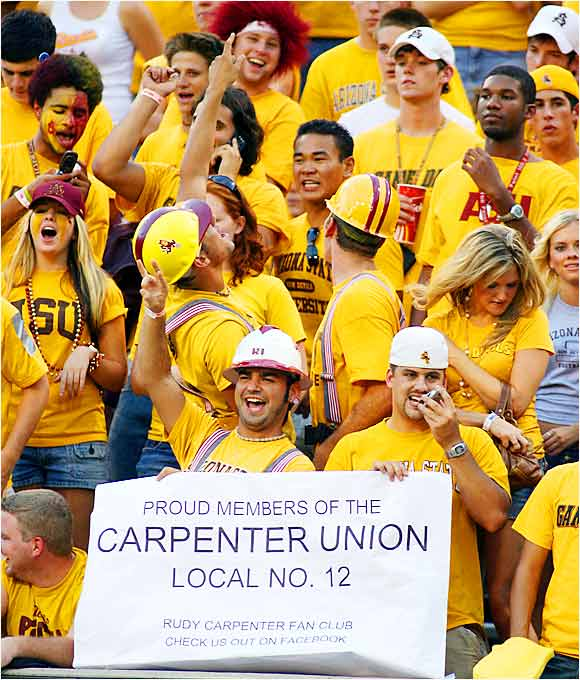 ASU fans supported their quarterback before their game against Nevada last Saturday.