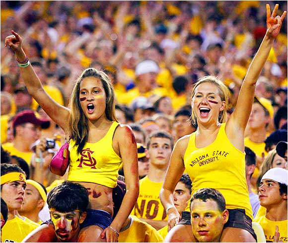 Arizona State fans were shocked at how easily the Sun Devils disposed of Nevada (52-21) during Saturday's game.