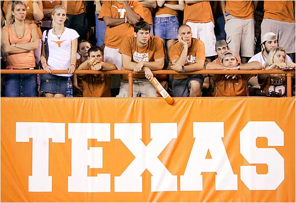 Texas fans reacted predictably after their Longhorns lost to Ohio State, 24-7, in Austin, Texas.