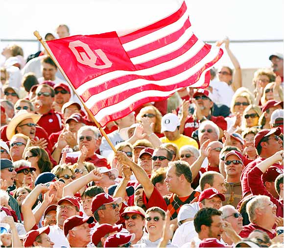 These fans traveled across the country to support their Sooners, only to see the game taken from them, 34-33, by two controversial calls.