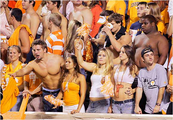 The best seats in the house went to these Tennessee fans who had a front-row view of their Vols tough one-point loss to Florida.