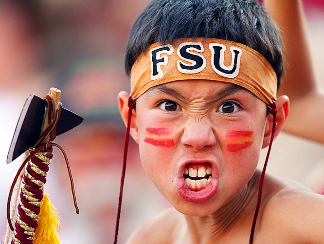 This week's most intimidating fan is only nine-years-old, but we'd hate to root against FSU with him sitting next to us. Luckily for his Owls fan neighbors, the little fella and the rest of the Doak Campbell Stadium faithful left happy after the Seminoles destroyed Rice, 55-7.