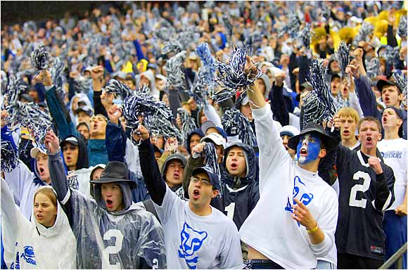A little rain didn't dampen the spirits of the Penn State faithful as more than 106,000 packed into Beaver Stadium for the Nittany Lions' 36-14 victory over Akron.