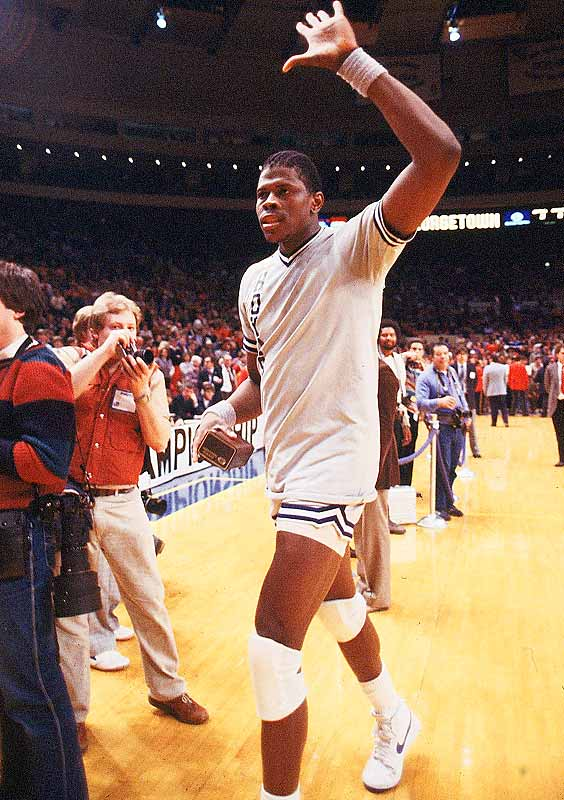 Patrick Ewing embraced the knee pads at an early age, but may have been better off had he been introduced to the headband.