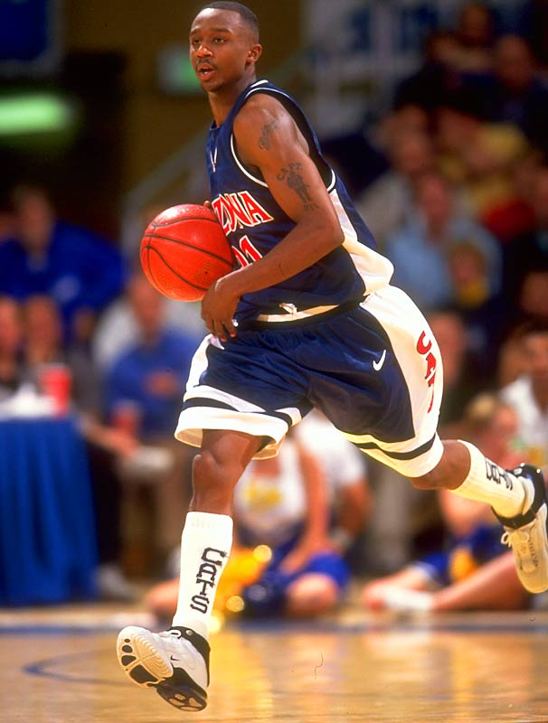 Not only did former Arizona point guard Jason Terry hike his socks up to his knees, he wore five pairs of them for every game. Eight years later, the high sock look still hasn't caught on (unless you count Keith Van Horn).