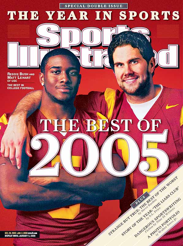 Most athletes wait until they turn pro to start sporting the bling, but this was not the case with USC's Reggie Bush, seen here on the cover of SI with a diamond almost the size of a baby's head.