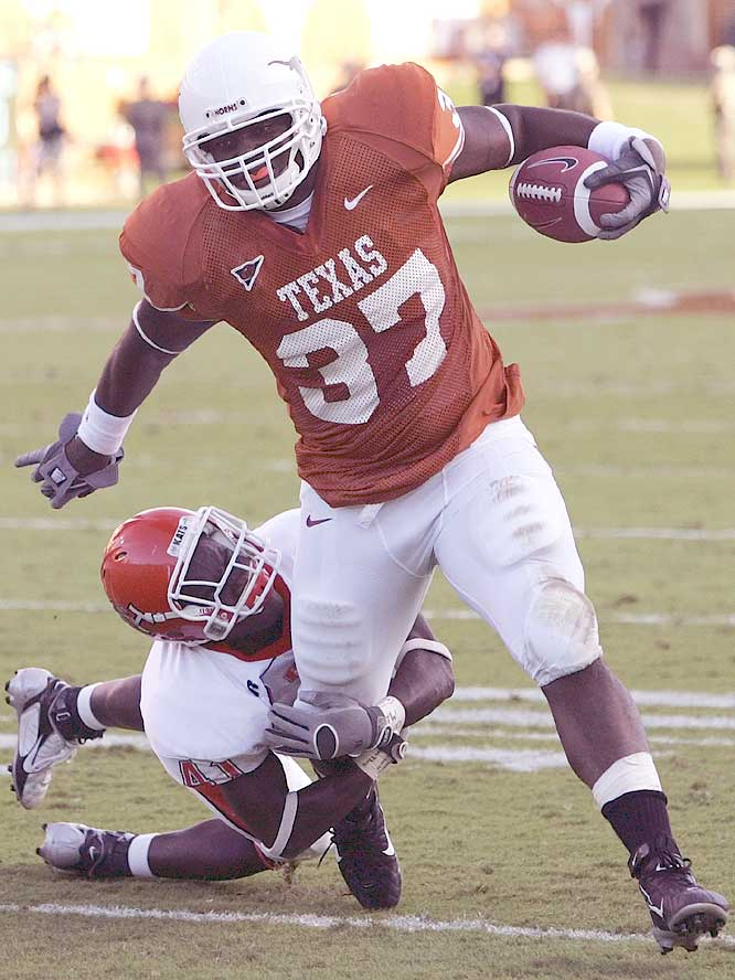 Henry Melton had 64 of the Longhorns' 116 rushing yards in Texas' dominating win at home.