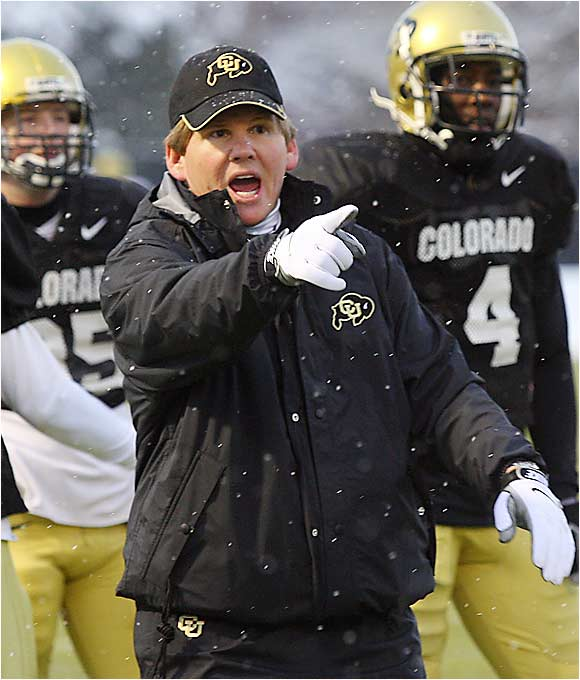Dan Hawkins' Boulder honeymoon ended quickly, as the Buffs lost their opener to Division I-AA Montana State. Last week's 14-10 loss to Colorado State dropped Hawkins' bunch to 0-2. After this week's home contest against Arizona State, Colorado hits the road for games against Georgia and Missouri. At this point, there is a very realistic chance that Colorado's new coach will start off 0-5.