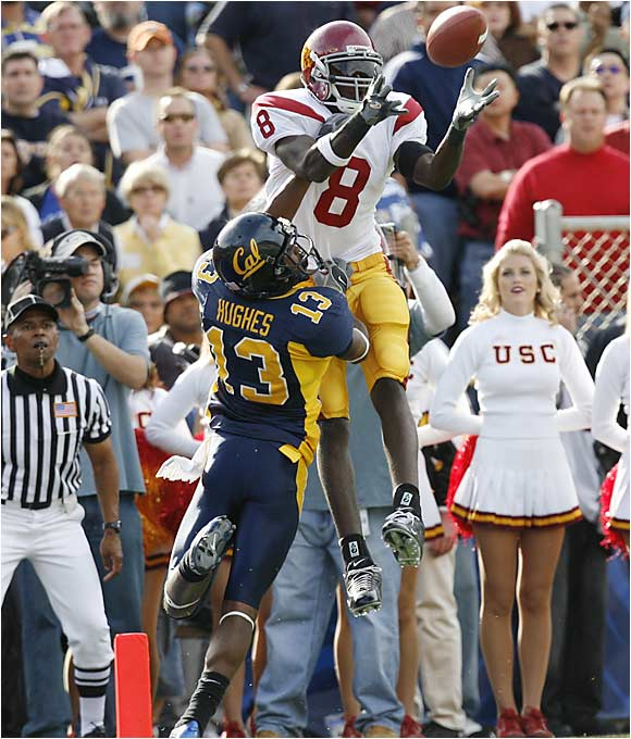 """Following USC's opening win over Arkansas, offensive coordinator Lane Kiffin was critical of Jarrett, who hauled in five passes for 35 yards against the Hogs. """"Whatever it was, he didn't go out and play like an All-American,"""" Kiffin said. """"We have had guys here, like Reggie Bushes, that have shown that every day in practice.... We want him to go out there and dominate."""" Earlier this week Nebraska CB Andre Jones -- one of the men who will cover Jarrett -- basically guaranteed a Huskers win: """"When we beat this team, we can show the world that we are a great team and we restored the order."""" Think Jarrett will be motivated?"""