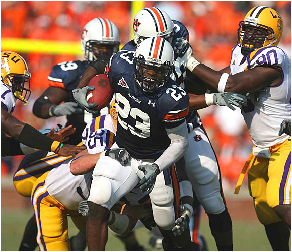 Kenny Irons had 70 yards rushing on 25 carries, but it was Auburn's defense that stole the show on Saturday.