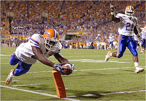 Jemalle Cornelius gave the Gators an early 7-0 lead, but they had to rally in the fourth quarter to beat the Vols at Neyland Stadium.