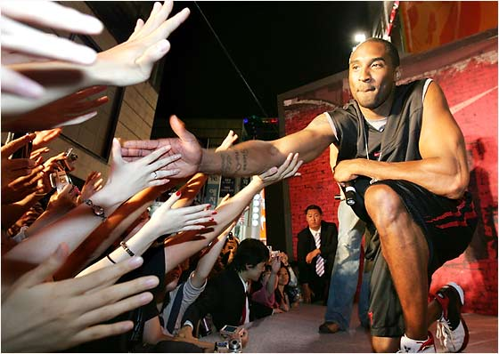 Everybody wanted a piece of Kobe during his week-long journey in Asia.