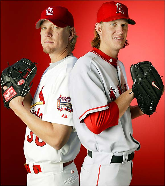 Talk about brother vs. brother. Jered Weaver ended up replacing his older brother, Jeff, on the Angels' roster. Jeff has moved on to the Cardinals while Jered has put together a stellar rookie season, going 10-2 with a 2.15 ERA.