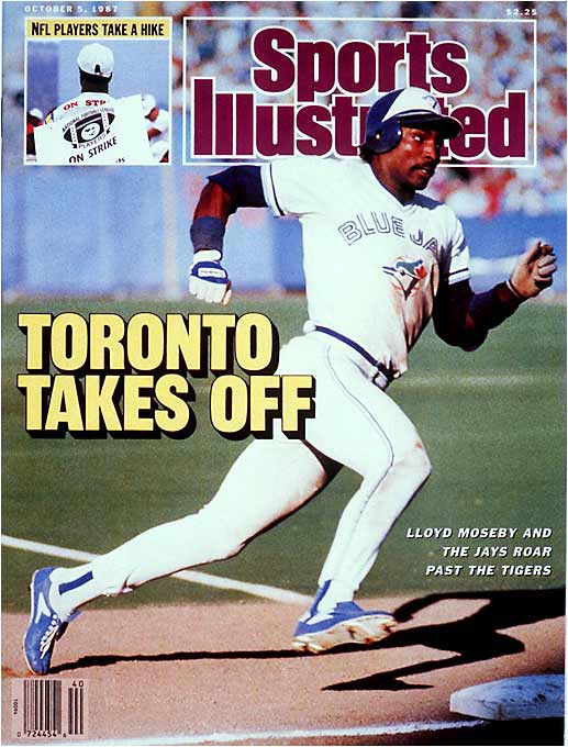 They held a 3 1/2-game lead on the Tigers with seven games left, but the Blue Jays failed to win another game. Detroit swept Toronto in the final series of the season, winning all three games by one run. Lloyd Moseby (pictured) hit 26 home runs and stole 39 bases for the Jays.