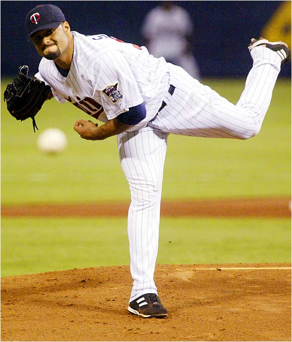 Twins pitcher Johan Santana won against the division-rival Tigers on Sunday, making him 9-0 over his last 12 starts. Santana had 23 strikeouts over 14 1/3 scoreless innings last week for the Twins, helping to put the team just two games behind Detroit in the AL Central.