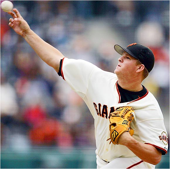 Giants starting pitcher Matt Cain allowed two hits, a walk and no runs in eight innings against the Rockies on Sept. 14 for his fourth straight win. Cain has not allowed an earned run in his last 30 2/3 innings.