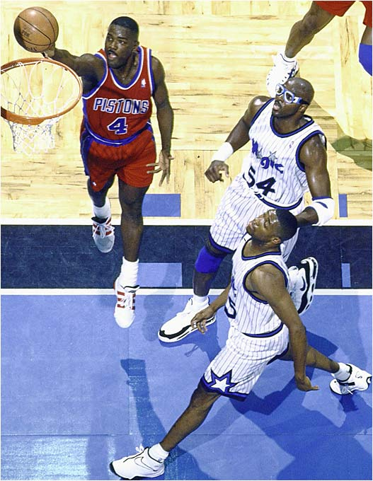 Dumars was a solid defender, but he also knew his way to the hoop.