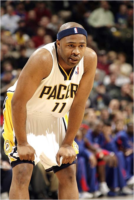 With the Ron Artest Experience resolving itself in the form of 40 games of Peja Stojakovic, and the reappearance of the decidedly average Al Harrington, it remains to be seen whether a less-potent Pacers squad can work its way back into the East's elite. Tinsley is one player whose all-around gifts can carry a team through times of peril, but he has to have his head in the action and his rear end off the bench. He's played only 134 games over the last three seasons and has nearly worn out his welcome in Indiana.