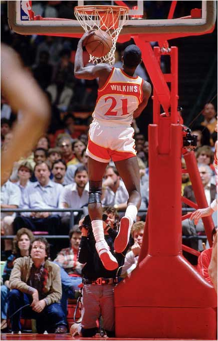 The view from behind was often as good as from in front when Dominique attacked the rim.