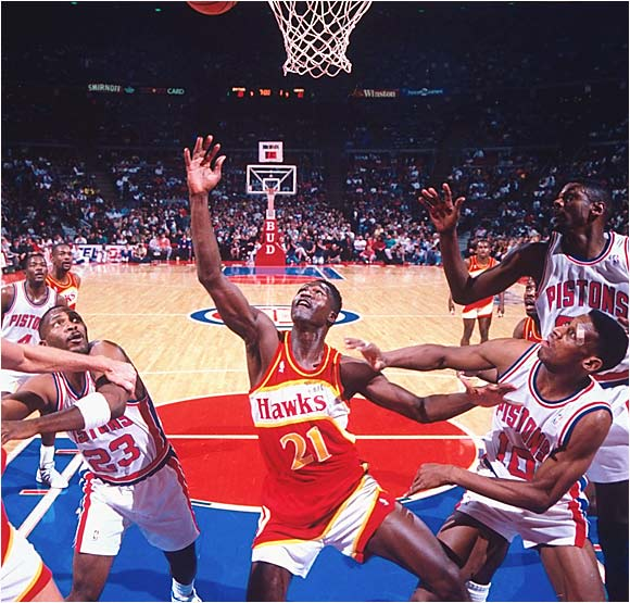 Wilkins wasn't a great rebounder, but he did pull down 7,169 boards in his career.