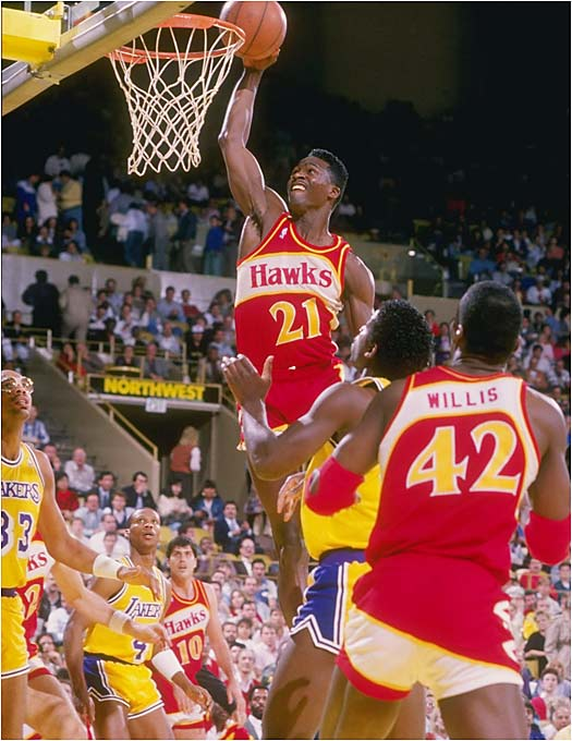 Wilkins often went up and over opponents, who could only stand in awe.