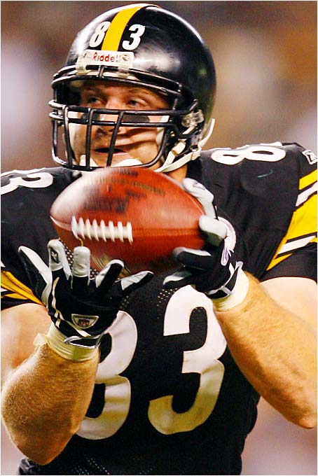 Charlie Batch threw for more yards on one pass to Heath Miller (left) in the Steelers' opening-day win over the Dolphins (87 yards) than Roethlisberger threw in either half Monday against the Jaguars (60 in the first half, 81 in the second).