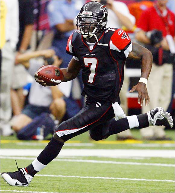 Falcons quarterback Michael Vick rushed for 127 yards against the Buccaneers last Sunday, his third career rushing performance of 127 or more yards. Since 1972, no other quarterback has rushed for more than 125 yards in a game. Vick's sixth career 100-yard rushing game extended his own NFL record for quarterbacks. Billy Kilmer had four.