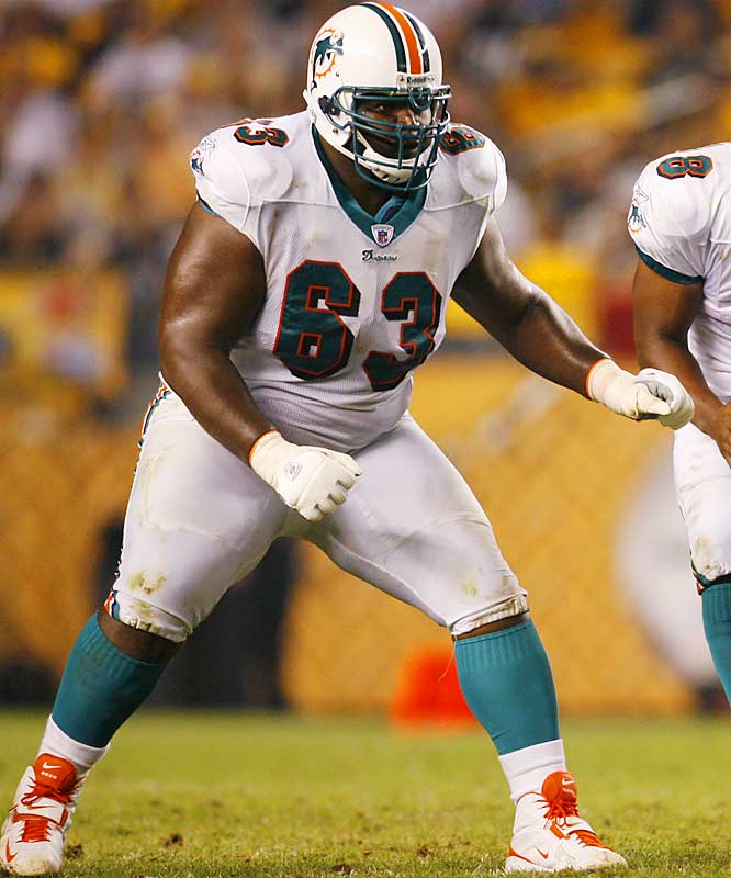 The Dolphins' starting right guard is out for the season after undergoing surgery to repair his left triceps tendon.