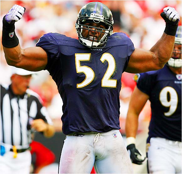 Ray Lewis and the Baltimore Ravens handed the Tampa Bay Buccaneers their first shutout home loss since the 1996 season.