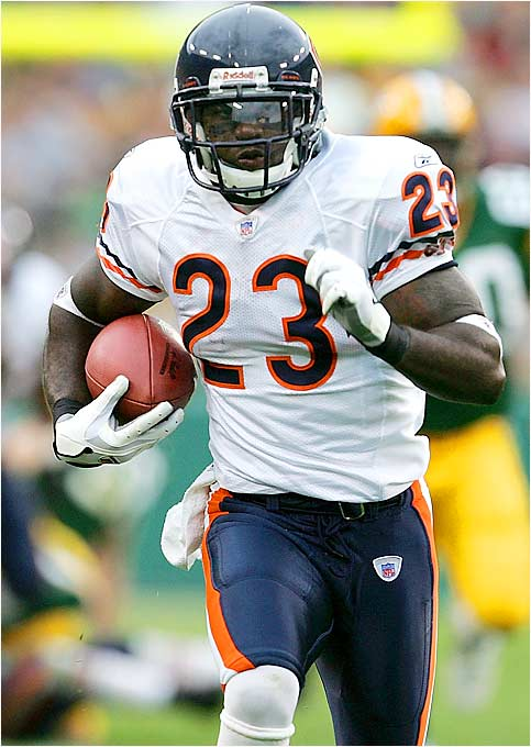 Some people thought it was strange that the Bears took a player in the second round who didn't really have a position. But Hester immediately proved he would bolster what was a problem area for Chicago by returning a punt 84 yards for a touchdown.