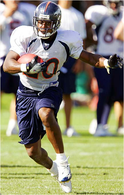 Broncos coach Mike Shanahan won't say who Denver's primary running back will be, but Bell will likely see plenty of action against the Rams. The undrafted rookie out of Arizona averaged 5.3 yards per carry in the preseason. In 1995, Terrell Davis, a sixth-rounder, became the lowest draft pick ever to surpass 1,000 yards in his rookie year. With the always-effective Broncos line in front of him, Bell could knock Davis out of the record book.