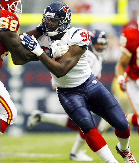 He makes it into the top 10 because he's the No. 1 overall pick and the Texans will do whatever they can to free him up to rush the passer. But he had better produce quickly or the boo birds will be out in Houston. Watch out for second-round pick Demeco Ryans, a linebacker who could end up having a better season than Williams.