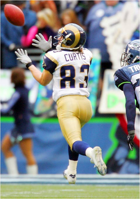 With starting wide receiver Isaac Bruce nearing the end of his career, Curtis is set to emerge as the next great Rams receiver. St. Louis' offense has gotten off to a slow start under new coach Scott Linehan, but as it improves, the speedy Curtis should be a big-play threat at receiver and on special teams.