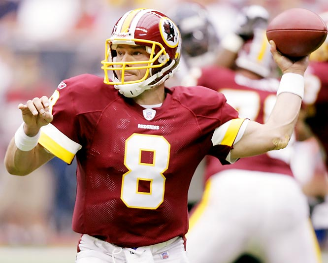 Number: 89 <br><br>Redskins quarterback Mark Brunell completed 89 percent of his passes against the Texans (24 for 27). The last quarterback to throw 27 or more passes and have a higher completion percentage than Brunell was Rich Gannon of the Raiders, who was 34 for 38 (90 percent) against the Broncos in 2002.