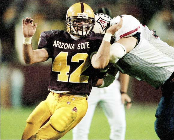 Tillman played his college ball at Arizona State, where he was an outstanding linebacker.