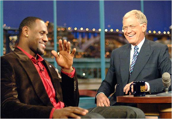 LeBron James and David Letterman can't help but laugh at the current state of USA basketball.