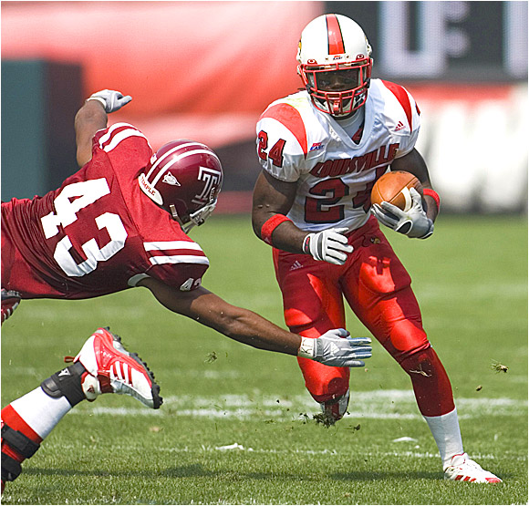 Louisville running back George Stripling had 72 yards and two TDs on just nine carries Saturday.