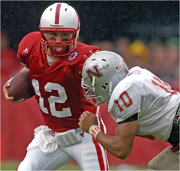 Nebraska QB Joe Ganz was happy to get playing time in the Cornhuskers' easy win.