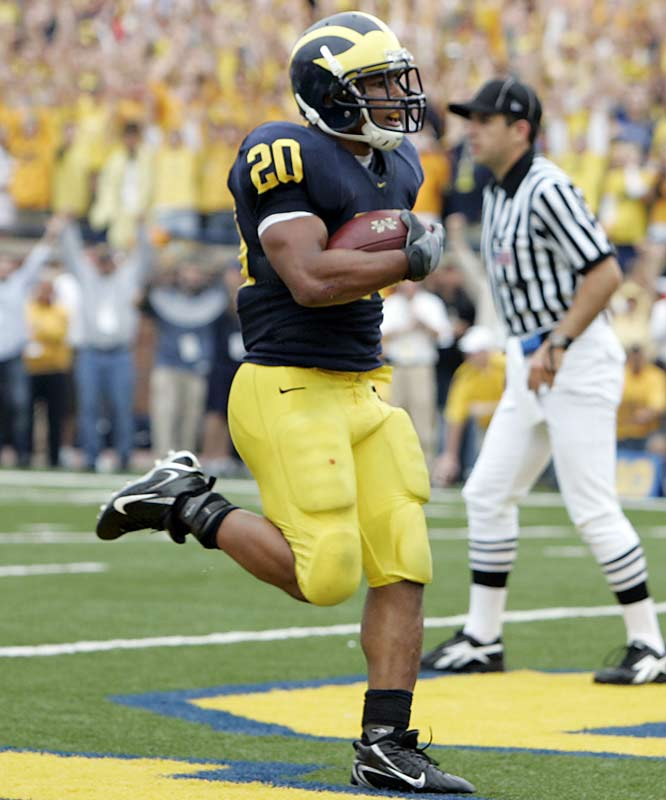 Mike Hart is averaging 125 yards per game during Michigan's impressive 5-0 start. The Wolverines have won every game by at least two touchdowns and routed Notre Dame in South Bend. <br>Next test: Iowa, Oct. 21