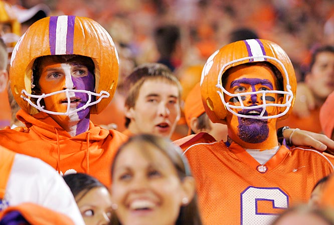 These Clemson fans got in the Halloween spirit during the Tigers' 31-7 rout of Georgia Tech on Saturday.